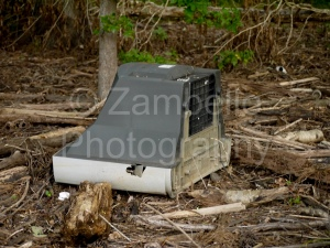 television, forest, north carolina, durham, trash, litter, falls lake