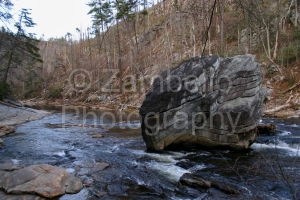 linville gorge, north carolina, boulder, river, water
