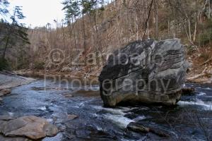 linville gorge, north carolina, boulder, river, water