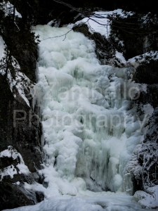 river, waterfall, frozen, maine