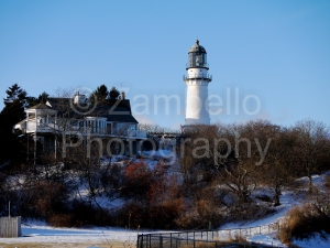lighthouse, maine, photography, winter, snow
