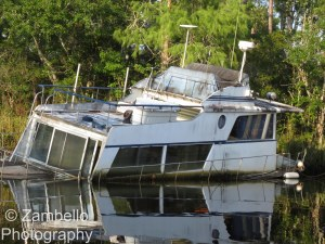 sunken boat, florida