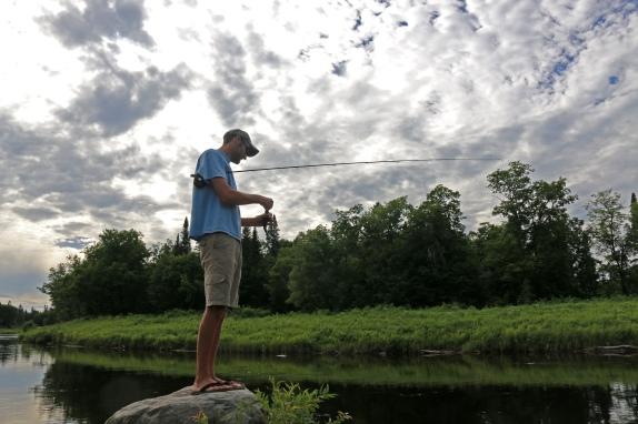 summer, maine, nature, fishing